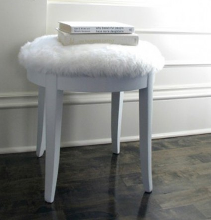 fake fur stool