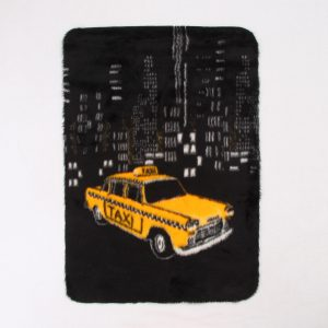 Accessoires outlet Newyork taxi kleedje – 203R/3 yellow taxi by night