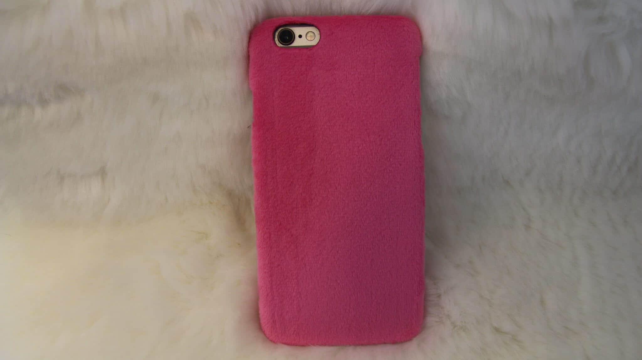 Roze telefoonhoesje