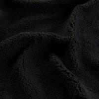 Imitatiebont Superzachte zwart sherpa fleece imitatiebont stof per meter – 2R307 black