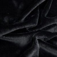 Imitatiebont Zwarte kortharige imitatiebont stof per meter – 2R340 Black