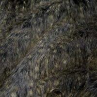 Imitatiebont Superzachte zwart/grijs gevlekte imitatiebont stof per meter – 1381 Black/Grey