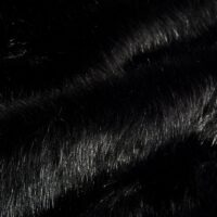 Imitatiebont Zwart nerts imitatiebont stof per meter – 1644 Black