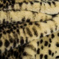 Imitatiebont Beige luipaard imitatiebont stof per meter – 7580 Beige Leopard