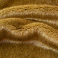 Imitatiebont Kortharige caramel bruin imitatiebont stof per meter – 6026 Caramel