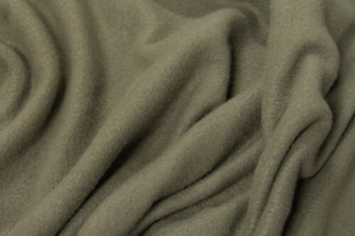 Fleece stof Lambskin fleece olijfgroen