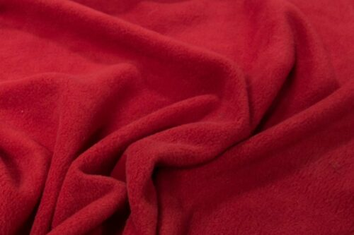 Fleece stof Lambskin fleece rood