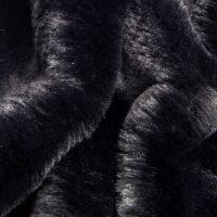 Imitatiebont Zwart, superzacht, imitatie konijnbont – 2R339 Black