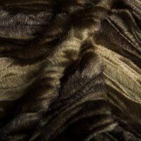 Imitatiebont Bruin/Steengrijs nerts imitatiebont stof per meter – 7588 Stone/Brown