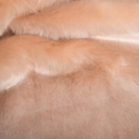 Imitatiebont Rozenzalm konijn/nerts imitatiebont stof per meter – 6003 Salmon