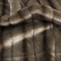 Imitatiebont Getextureerd Mink imitatiebont stof per meter, praline – 6004 Praline