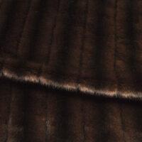 Imitatiebont Getextureerd Mink imitatiebont stof per meter, bruin – 6004 Red Brown