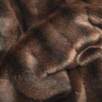 Imitatiebont Getextureerd Mink imitatiebont stof per meter, bruin – 6004 Dk.Brown